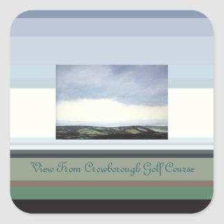 View From Crowborough Golf Course Square Sticker