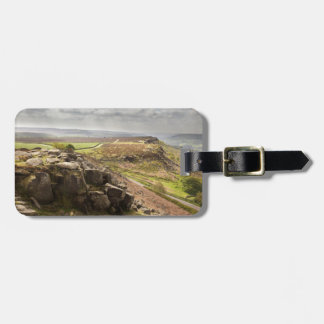 view from Curbar Edge in the Peak District photo Bag Tag