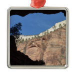 View from Devil's Staircase at Zion National Park Metal Ornament
