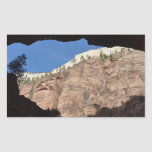 View from Devil's Staircase at Zion National Park Rectangular Sticker