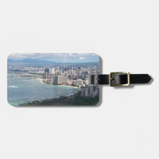 VIEW FROM DIAMOND HEAD- OAHU HAWAII TAG FOR LUGGAGE