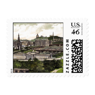 View from Edinburgh Castle Postage Stamp