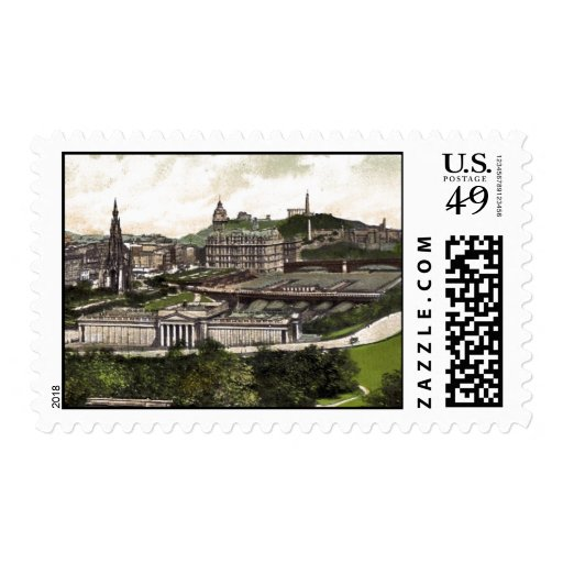 View from Edinburgh Castle Stamp