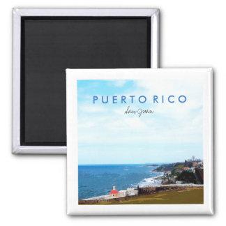 View from El Morro, San Juan, Puerto Rico Magnet