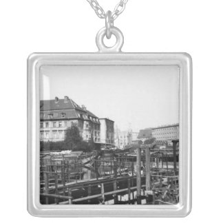 View from 'Fischerinsel', Berlin, c.1910 Silver Plated Necklace