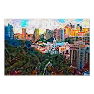 View From Fort Canning - Original Art Print