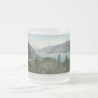 View from Fort Putnam, Hudson River 1906 Vintage Frosted Glass Coffee Mug