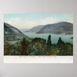View from Fort Putnam, Hudson River 1906 Vintage Poster