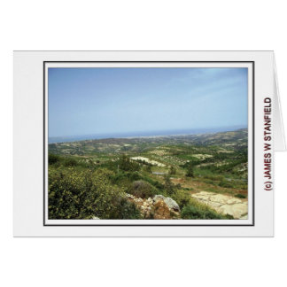 View from Fourni Hill Greeting Card