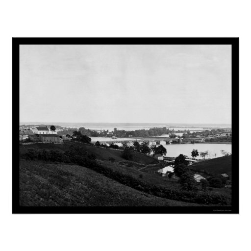 View from Georgetown Heights 1865 Poster