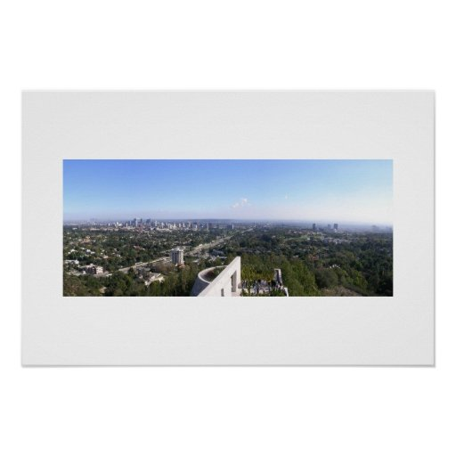 View from Getty Center Poster