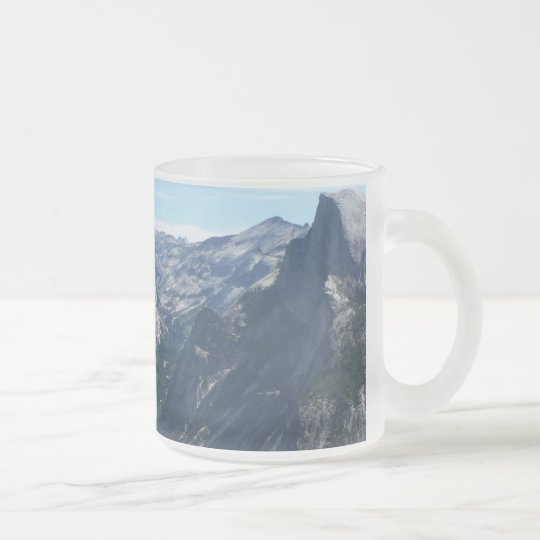 View from Glacier Point in Yosemite National Park Frosted Glass Coffee Mug