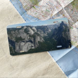 View from Glacier Point in Yosemite National Park License Plate