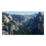 View from Glacier Point in Yosemite National Park Poster