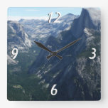 View from Glacier Point in Yosemite National Park Square Wall Clock