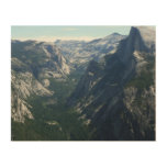 View from Glacier Point in Yosemite National Park Wood Print