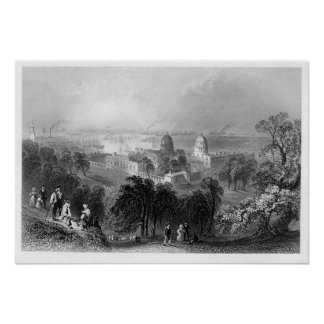 View from Greenwich Park  1840 Poster