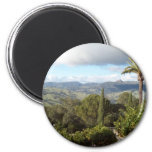 View from Hearst Castle 2 Inch Round Magnet