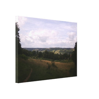View from hills behind Dorking to hills beyond - s Canvas Print