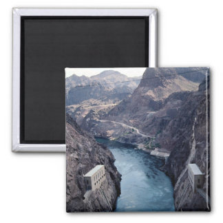 View from Hoover Dam, Nevada/Arizona, USA 2 Inch Square Magnet