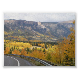 View from Hwy in Colorado Poster