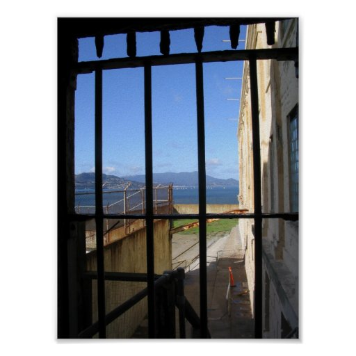View from Inside Alcatraz Posters