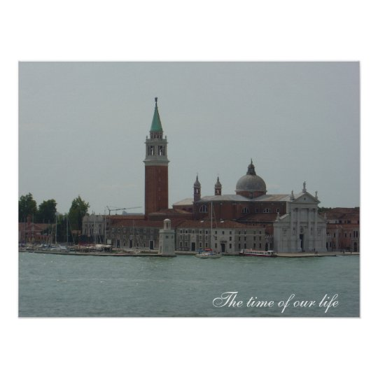 View from Inside Doges Palace, Venice Poster
