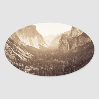 View from Inspiration Point, 1879 Oval Sticker