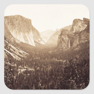 View from Inspiration Point, 1879 Square Sticker