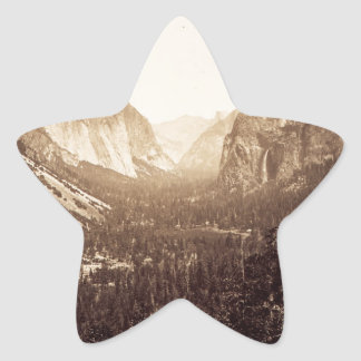 View from Inspiration Point, 1879 Star Sticker