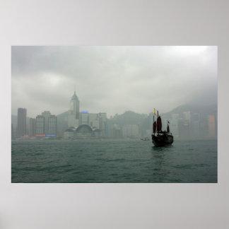 View from Kowloon towards Wan Chai, Hong Kong Poster