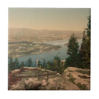 View from Krogkleven, Ringerike, Norway Tile