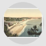 View from Lea Mount, Dawlish, England rare Photoch Round Stickers
