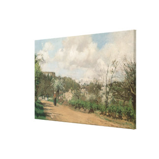View from Louveciennes, 1869-70 Canvas Print
