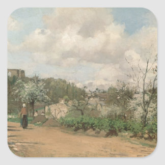 View from Louveciennes, 1869-70 Square Sticker