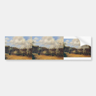 View from Louveciennes by Camille Pissarro Bumper Sticker
