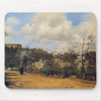 View from Louveciennes by Camille Pissarro Mouse Pad