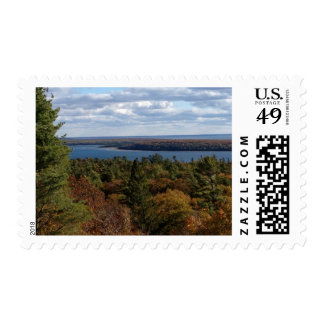 View from Mackinac Island Postage