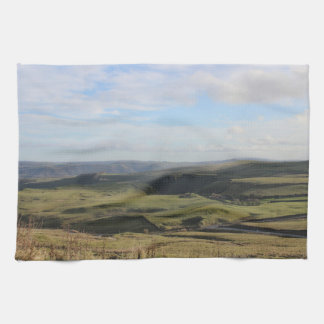 View from Mam Tor.(Peak District) Kitchen Towel