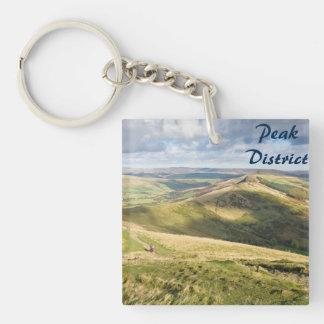 View from Mam Tor, Peak District souvenir photo Keychain
