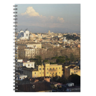 View From Manfredi Lighthouse, Gianicolo Hill, 3 Spiral Notebook
