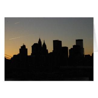 View from Manhattan Bridge Card