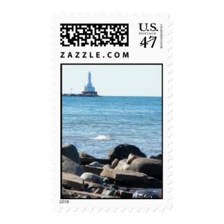 View from McLain State Park beach Postage Stamp