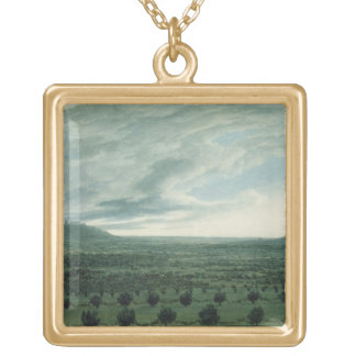 View from Mirabella, c.1782 Gold Plated Necklace