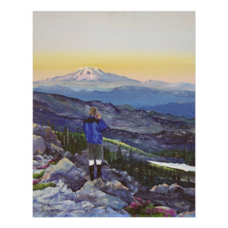 View from Mt St Helens Poster