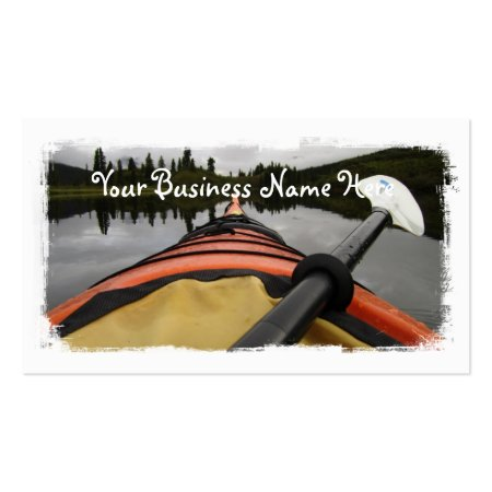Looking Out Front View From A Kayak Business Cards