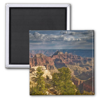 View from North Rim Visitor Center - Grand 2 Inch Square Magnet