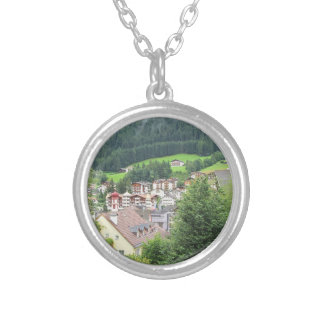 View from Ortisei Silver Plated Necklace