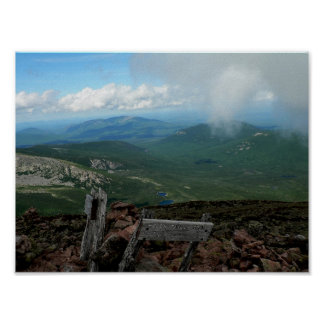 View from Pamola Peak, Maine Poster