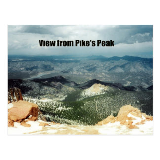 View from Pike's Peak Postcard